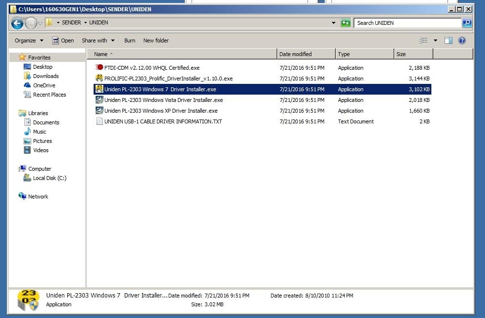 Rangecast FAQ 1160:Installing the device driver for the COM ports